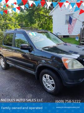 2002 Honda CR-V for sale at NICOLES AUTO SALES LLC in Cream Ridge NJ