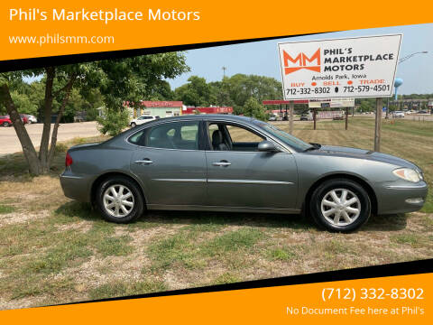 2005 Buick LaCrosse for sale at Phil's Marketplace Motors in Arnolds Park IA
