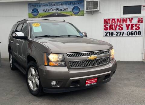 2013 Chevrolet Tahoe for sale at Manny G Motors in San Antonio TX
