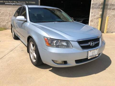 2008 Hyundai Sonata for sale at KAYALAR MOTORS - ECUFAST HOUSTON in Houston TX