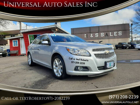 2013 Chevrolet Malibu for sale at Universal Auto Sales Inc in Salem OR