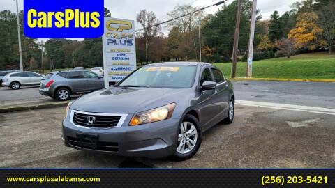 2008 Honda Accord for sale at CarsPlus in Scottsboro AL