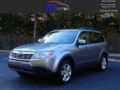 2010 Subaru Forester for sale at Zed Motors in Raleigh NC