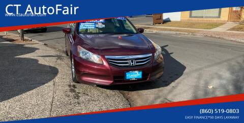 2011 Honda Accord for sale at CT AutoFair in West Hartford CT