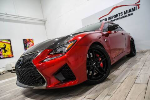 2017 Lexus RC F for sale at AUTO IMPORTS MIAMI in Fort Lauderdale FL