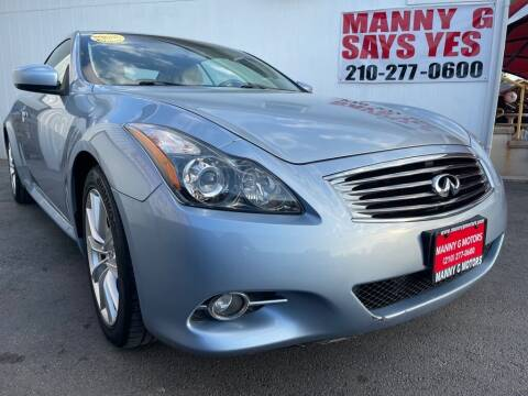 2012 Infiniti G37 Convertible for sale at Manny G Motors in San Antonio TX