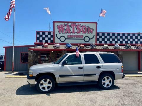 2005 Chevrolet Tahoe for sale at Watson Motors in Poteau OK