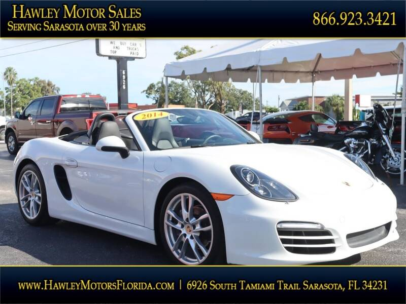2014 Porsche Boxster for sale at Hawley Motor Sales in Sarasota FL
