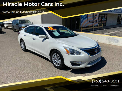 2015 Nissan Altima for sale at Miracle Motor Cars Inc. in Victorville CA