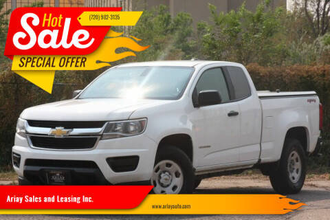 2018 Chevrolet Colorado for sale at Ariay Sales and Leasing Inc. - Pre Owned Storage Lot in Glendale CO