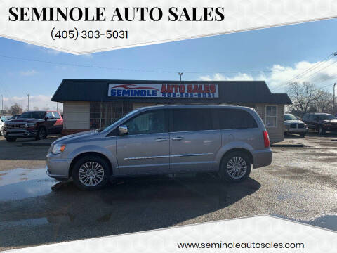 2013 Chrysler Town and Country for sale at Seminole Auto Sales in Seminole OK