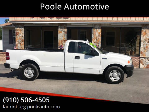 2008 Ford F-150 for sale at Poole Automotive in Laurinburg NC