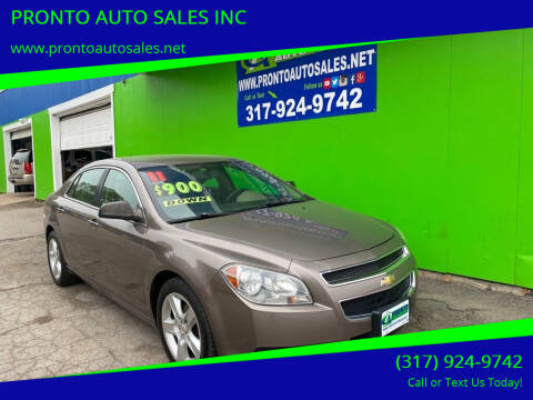 2011 Chevrolet Malibu for sale at PRONTO AUTO SALES INC in Indianapolis IN