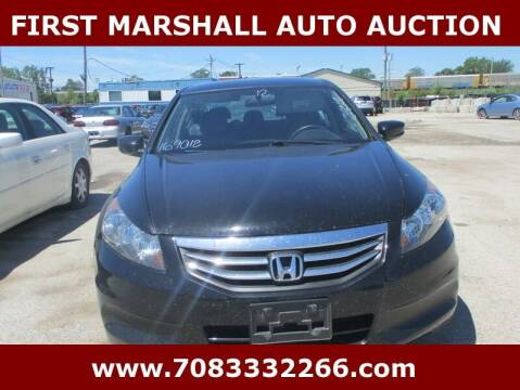 2012 Honda Accord for sale at First Marshall Auto Auction in Harvey IL