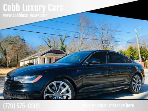 2012 Audi A6 for sale at Cobb Luxury Cars in Marietta GA