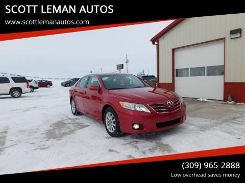2011 Toyota Camry for sale at SCOTT LEMAN AUTOS in Goodfield IL