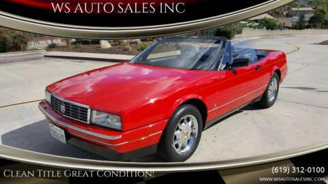 1991 Cadillac Allante for sale at WS AUTO SALES INC in El Cajon CA
