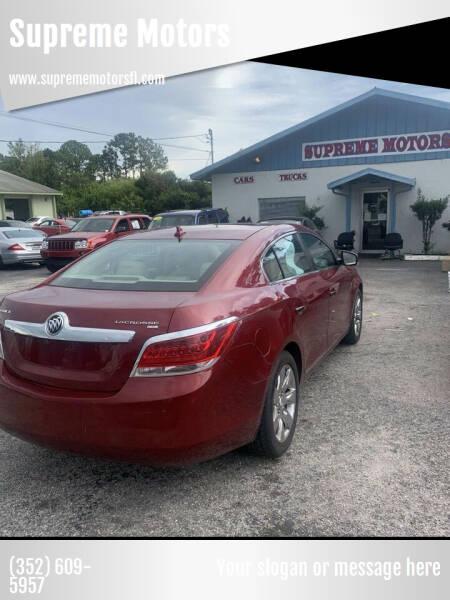 2010 Buick LaCrosse for sale at Supreme Motors in Tavares FL
