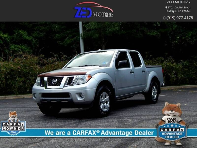 2012 Nissan Frontier for sale at Zed Motors in Raleigh NC