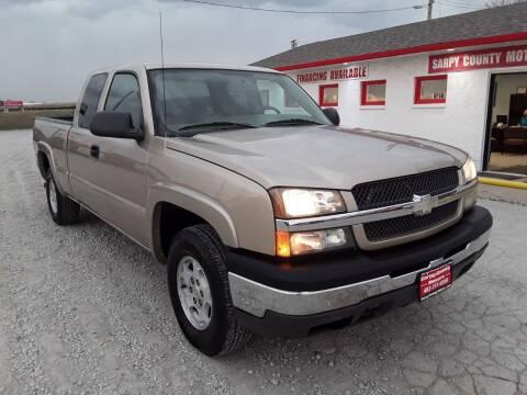 2004 Chevrolet Silverado 1500 for sale at Sarpy County Motors in Springfield NE