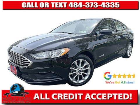 2017 Ford Fusion Hybrid for sale at World Class Auto Exchange in Lansdowne PA