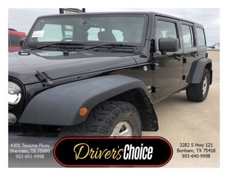 2014 Jeep Wrangler Unlimited for sale at Driver's Choice in Sherman TX