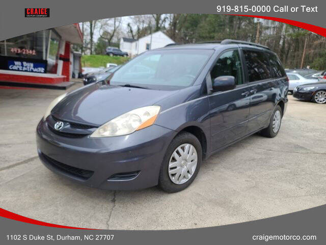 2007 Toyota Sienna for sale at CRAIGE MOTOR CO in Durham NC