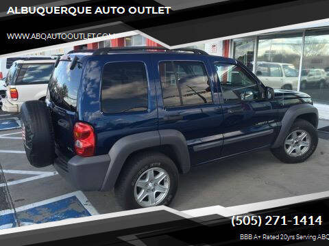 2002 Jeep Liberty for sale at ALBUQUERQUE AUTO OUTLET in Albuquerque NM