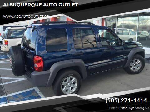 2002 Jeep Liberty for sale at ALBUQUERQUE AUTO OUTLET in Albuquerque NM