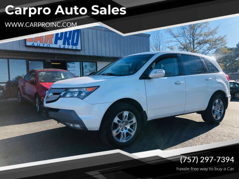 2008 Acura MDX for sale at Carpro Auto Sales in Chesapeake VA