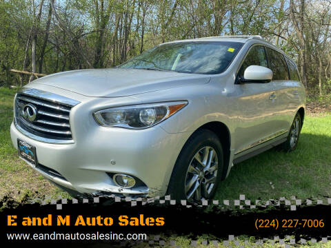 2013 Infiniti JX35 for sale at E and M Auto Sales in East Dundee IL