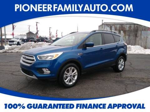 2018 Ford Escape for sale at Pioneer Family auto in Marietta OH