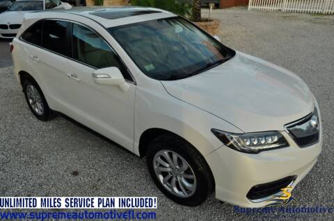 2016 Acura RDX for sale at Supreme Automotive in Land O Lakes FL