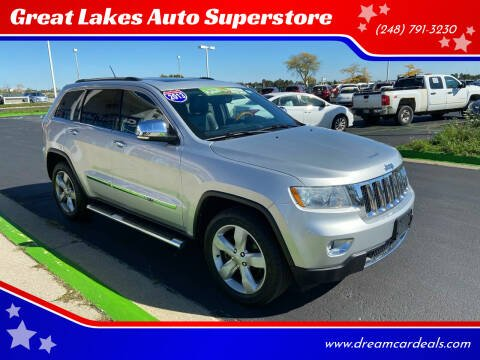 2013 Jeep Grand Cherokee for sale at Great Lakes Auto Superstore in Waterford Township MI