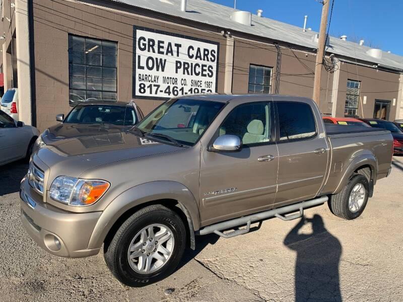 2006 Toyota Tundra for sale at BARCLAY MOTOR COMPANY in Arlington TX