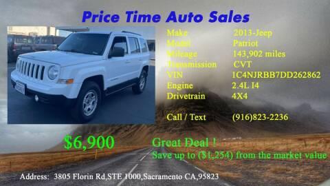 2013 Jeep Patriot for sale at PRICE TIME AUTO SALES in Sacramento CA