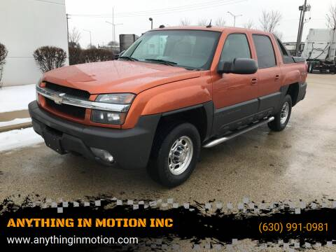2005 Chevrolet Avalanche for sale at ANYTHING IN MOTION INC in Bolingbrook IL
