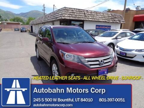 2012 Honda CR-V for sale at Autobahn Motors Corp in Bountiful UT
