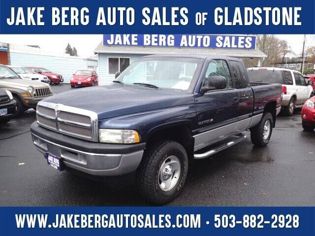 2001 Dodge Ram Pickup 1500 for sale at Jake Berg Auto Sales in Gladstone OR