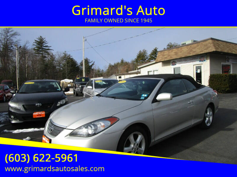 2005 Toyota Camry Solara for sale at Grimard's Auto in Hooksett, NH
