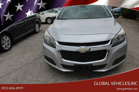 2015 Chevrolet Malibu for sale at Global Vehicles,Inc in Irving TX