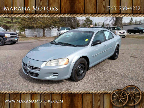2001 Dodge Stratus for sale at Marana Motors in Princeton MN