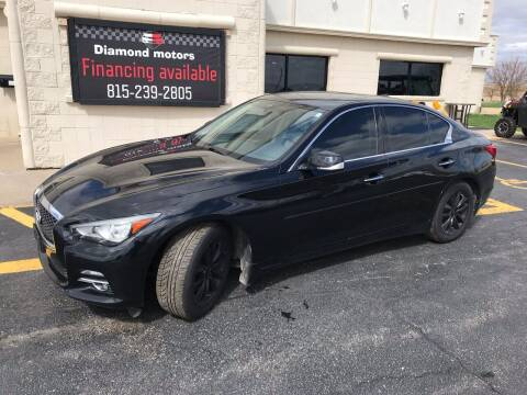 2014 Infiniti Q50 for sale at Diamond Motors in Pecatonica IL