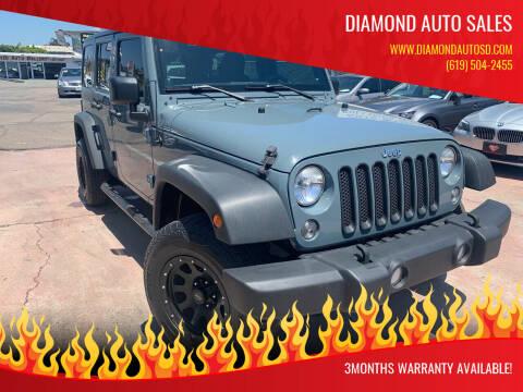 2014 Jeep Wrangler Unlimited for sale at DIAMOND AUTO SALES in El Cajon CA
