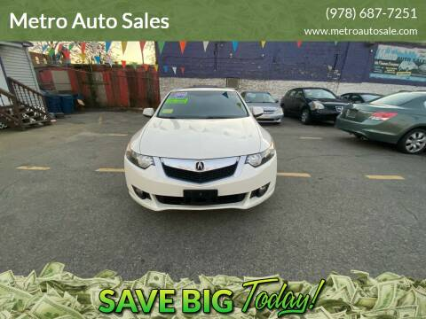 2010 Acura TSX for sale at Metro Auto Sales in Lawrence MA