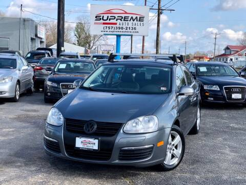 2009 Volkswagen Jetta for sale at Supreme Auto Sales in Chesapeake VA