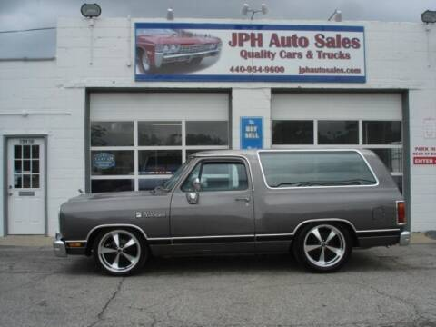 1990 Dodge Ramcharger for sale at JPH Auto Sales in Eastlake OH