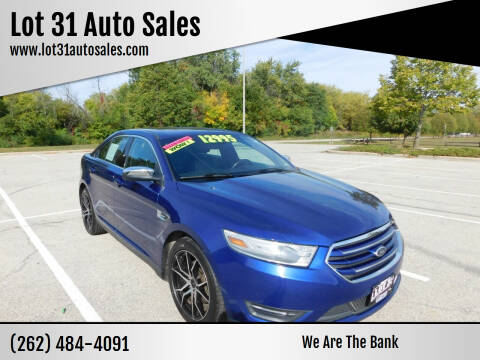 2013 Ford Taurus for sale at Lot 31 Auto Sales in Kenosha WI