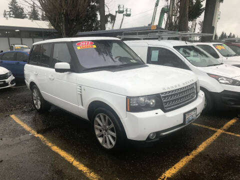 2012 Land Rover Range Rover for sale at Car Craft Auto Sales Inc in Lynnwood WA
