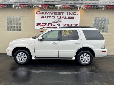 2008 Mercury Mountaineer for sale at Camvest Inc. Auto Sales in Depew NY